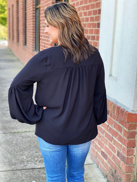 The Carly Top in Black