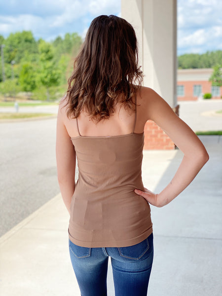 Seamless Cami Top in Taupe