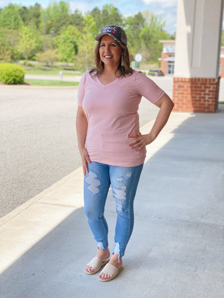 The Melissa Top in Dusty Pink
