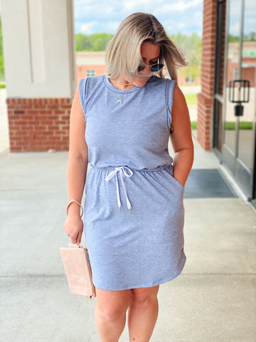The Denise Drawstring Dress