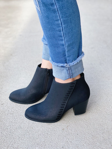 The Reform Bootie in Black
