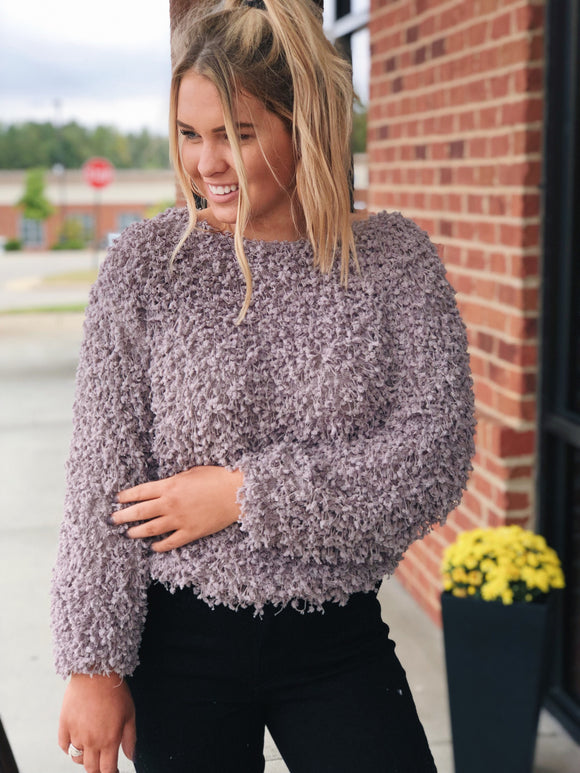 Cozy Obsession Sweater in Mauve