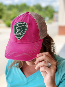 """Support Retail"" Hat in Fucshia"
