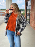 Cozy Corner Black Plaid Top