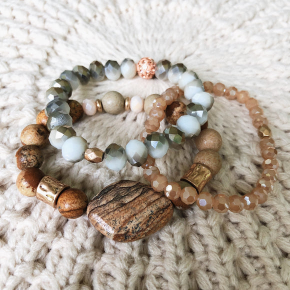 Three In One Beaded Bracelets