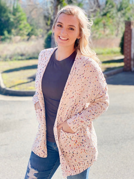 The Ava Speckled Knit Cardigan