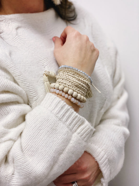 The Libby Bracelet Set in Ivory