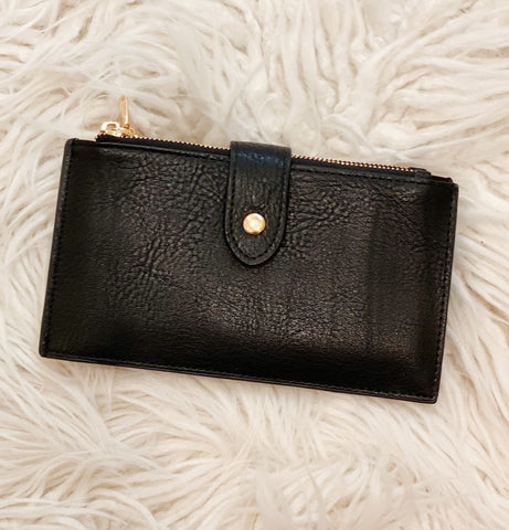Compartment Wallet in Black