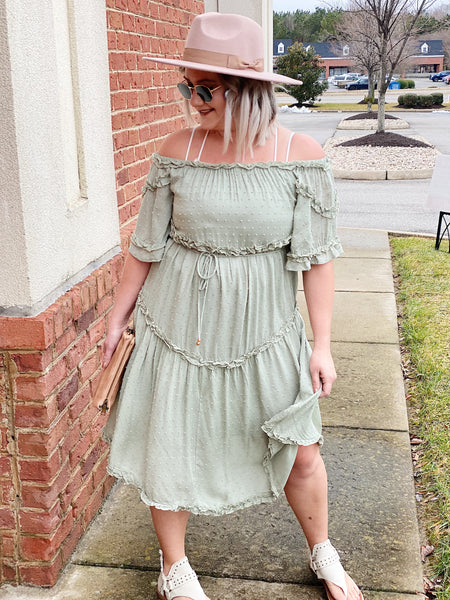 The Allison Dress in Sage