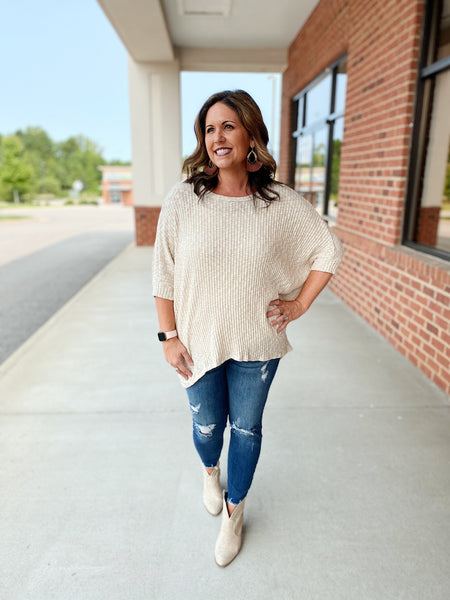 The Tess Pullover in Taupe