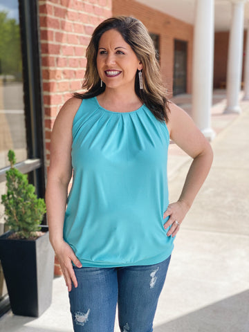 The Michelle Tank in Ash Mint