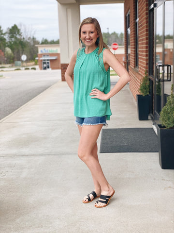 The Francine Top in Green Mint