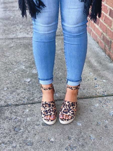 The Bella Wedge in Leopard