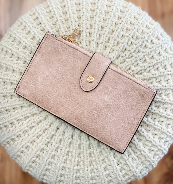 Compartment Wallet in Light Pink