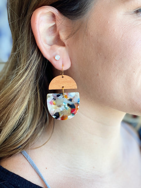 Deco Drop Earrings in Pink/Multi