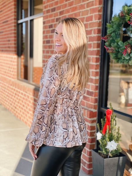 The Finley Top In Snakeskin