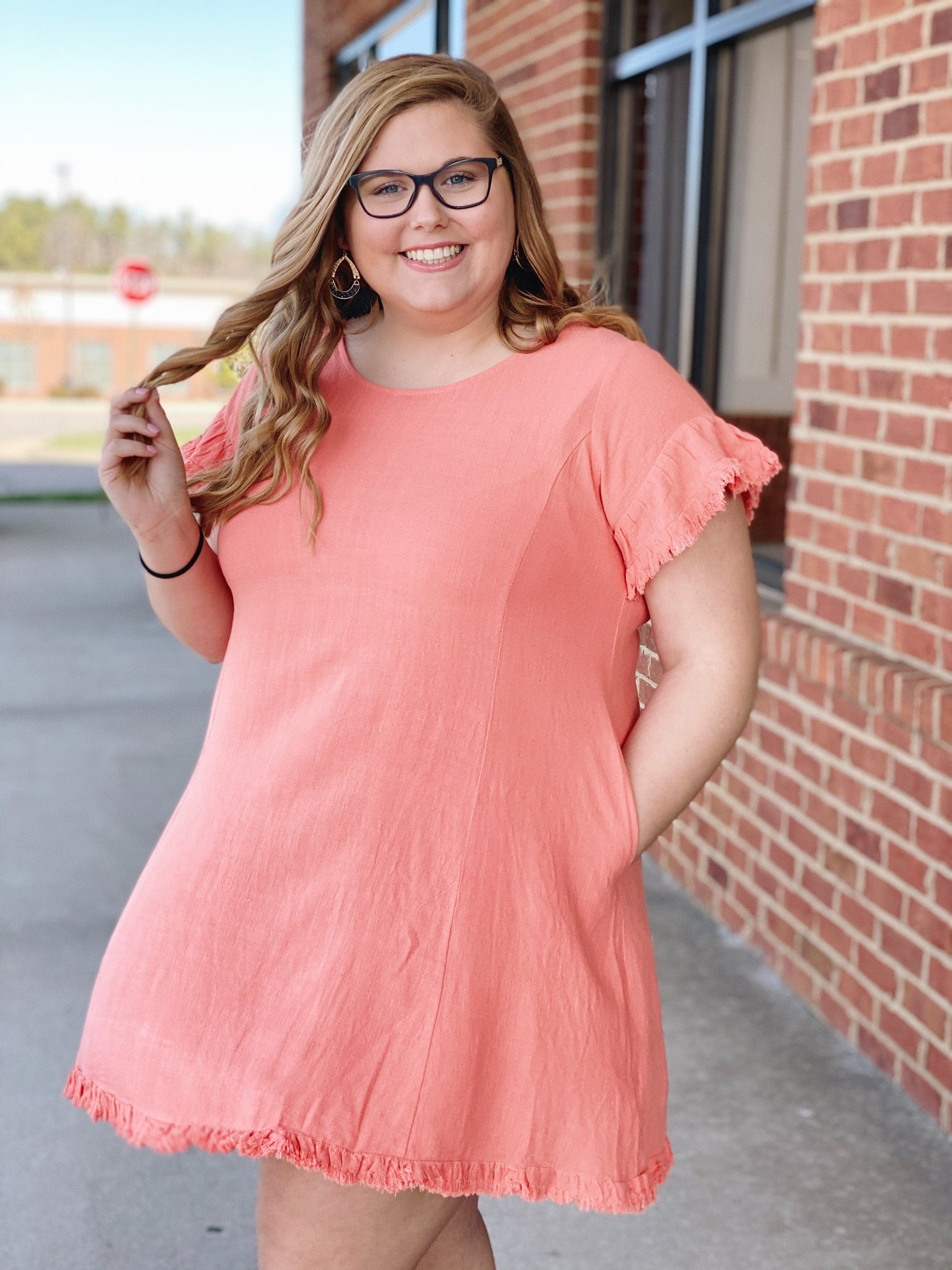 The Kate Dress in Cantaloupe