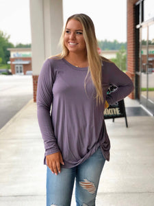 Simply Comfort Top In Purple