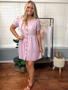 Seaside Brunch Shirt Dress Mauve