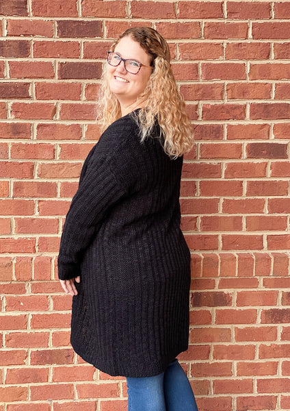 The Dakota Sweater Cardigan in Black