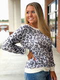 Cozy Casual Top In Leopard