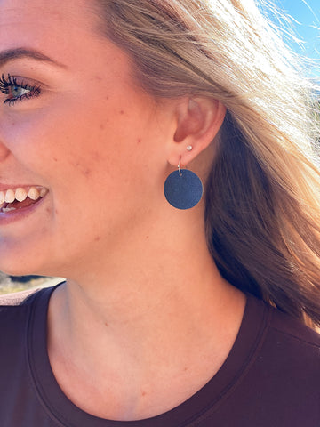 Midnight Sky Mini Leather Earrings