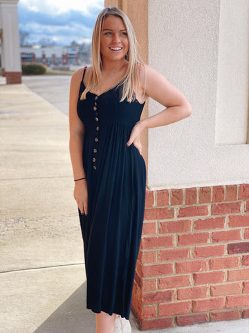 The Haven Jumpsuit in Black