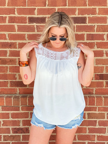 The Elaine Tank Top in Ivory