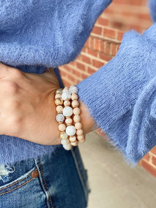 Beaded Bracelet in Nude