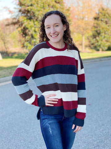 The Candice Sweater in Cranberry
