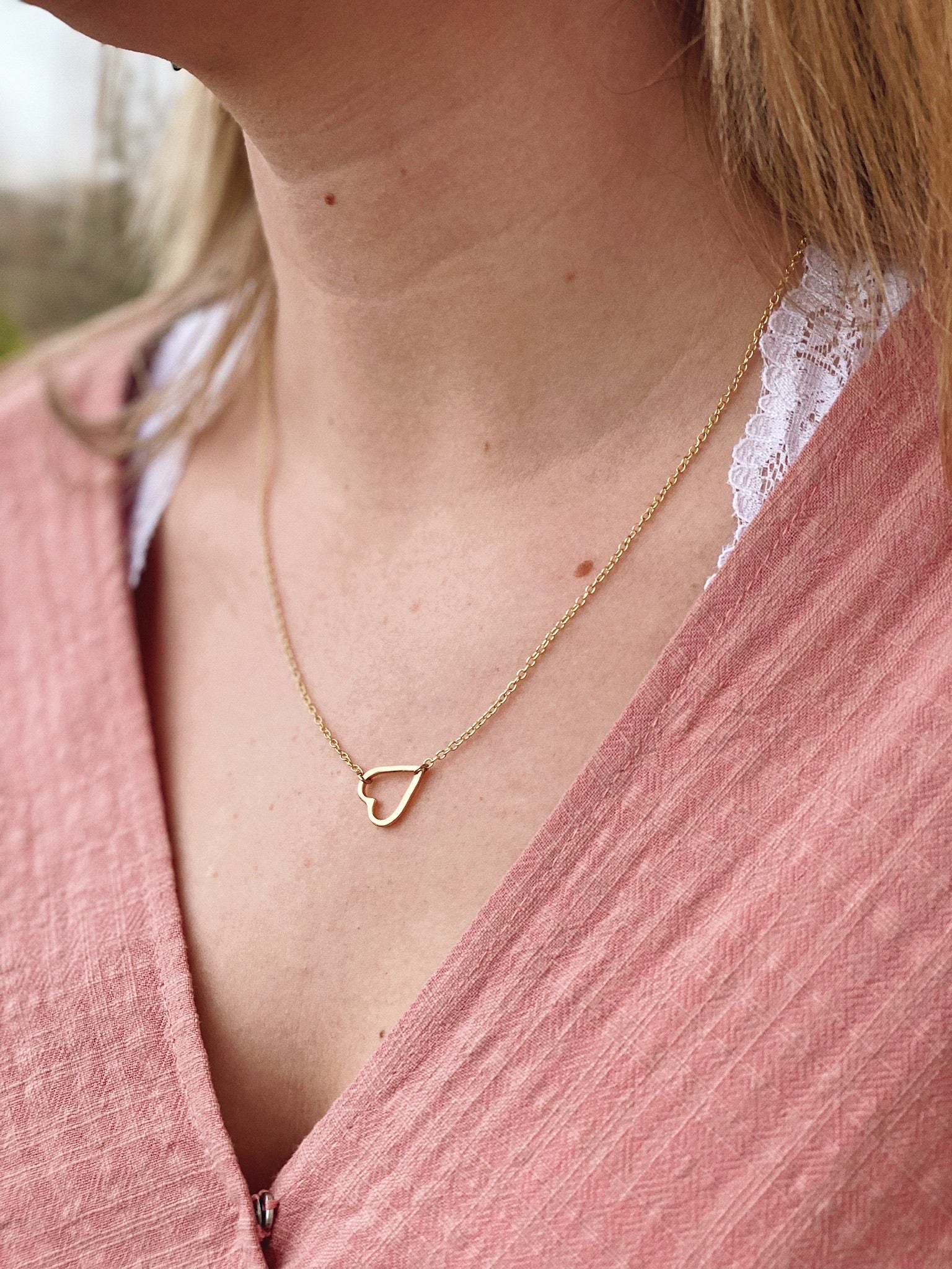 The Sideways Heart Necklace