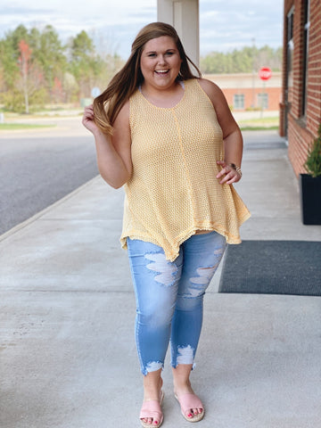 The Gina Tank Top in Honey