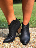 Kick It Up Booties in Black