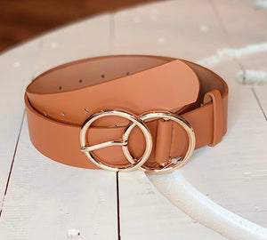 Double O Belt in Cognac