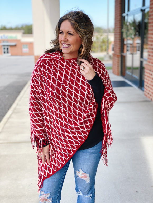 All That I Want Poncho in Red