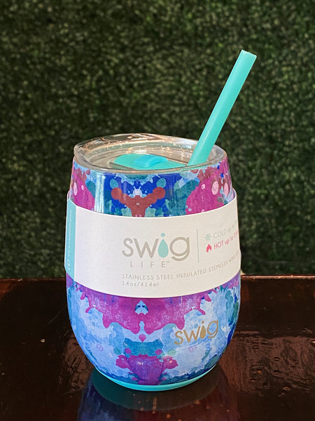 Swig 14oz Stemless Wine Cup in Artist Speckle