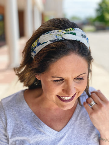 White/Multi Pineapple Twist Headband