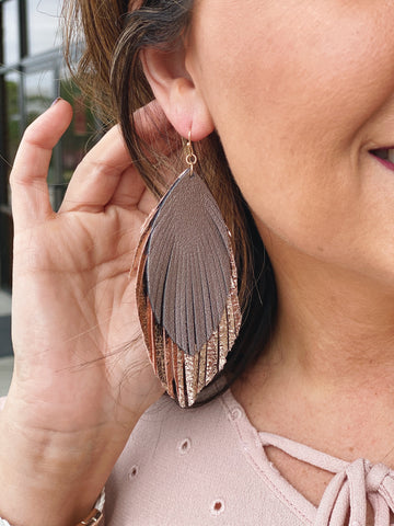 The Irene Leather Fringe Earrings