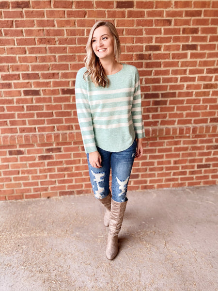 The Holly Top in Mint
