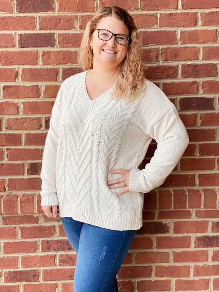 The Dawn Sweater in Cream