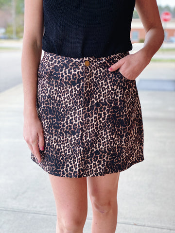 The Penelope Skirt in Leopard