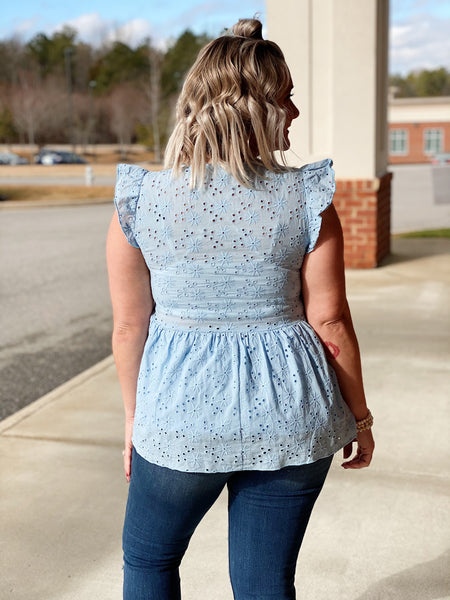 The Briget Top in Blue