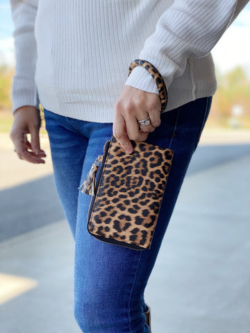 The Liv Bangle Wristlet in Leopard