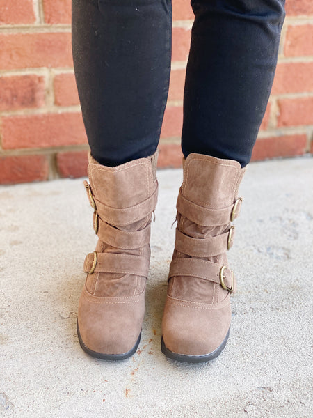 The Elma Bootie in Taupe