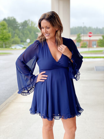 The Vivian Dress in Navy