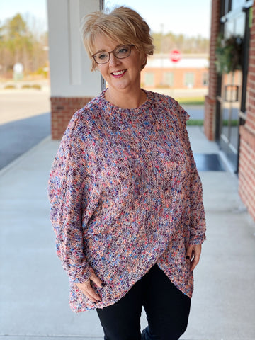 The Halley Cardigan Poncho in Multi