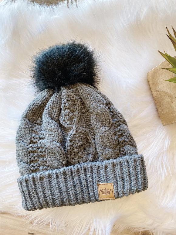 Cuddle Up Beanie in Grey