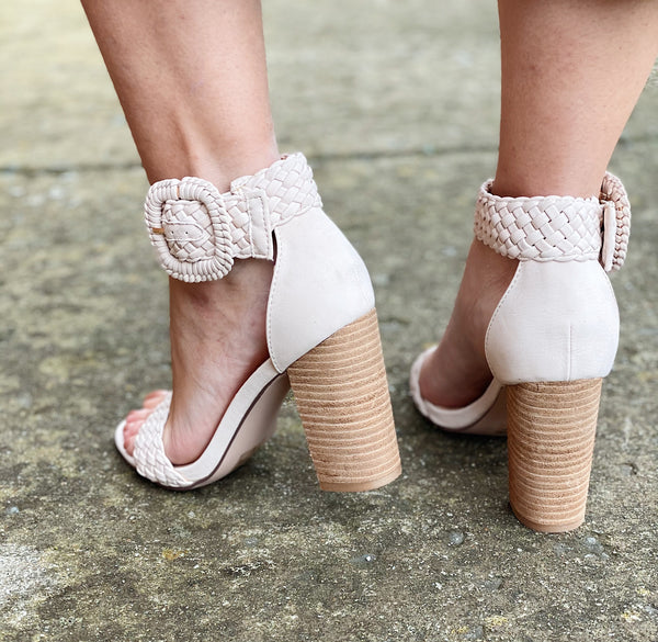 The Kate Block Heel in Nude