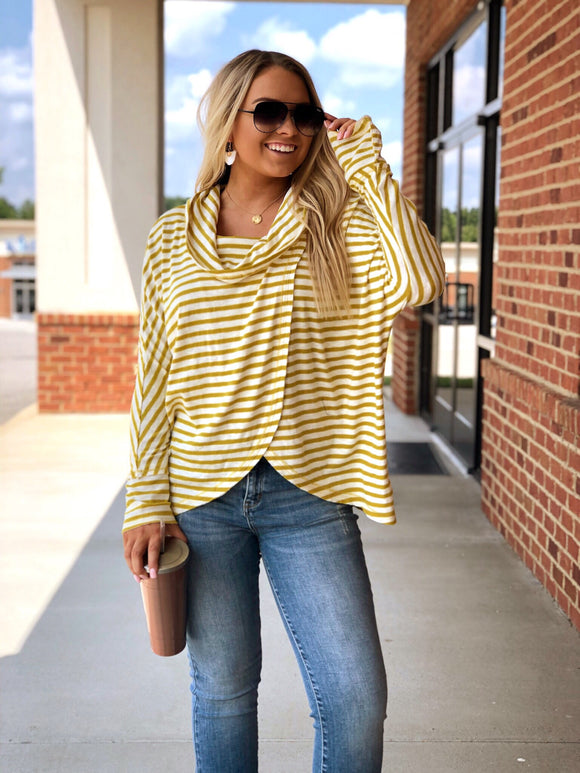 Happy Hour Top In Mustard