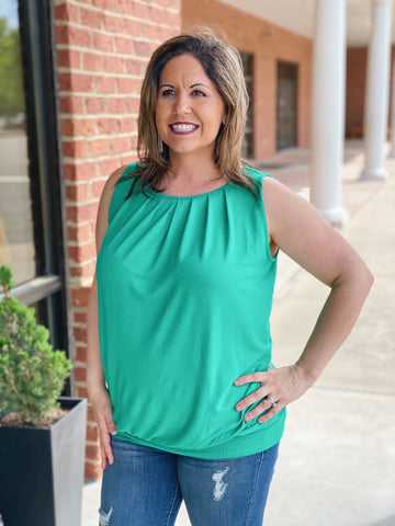 The Michelle Tank in Kelly Green